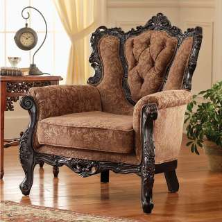 Hand carved Solid Hardwood Antique Replica Grand scale Armchair