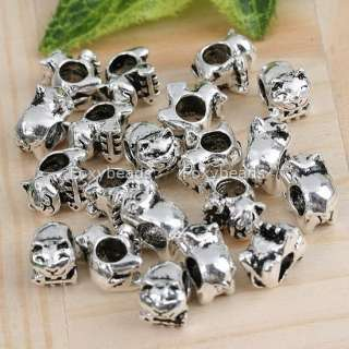 20Pc Tibetan Silver Cat*Fish Spacer Charm European Bead