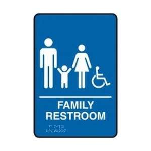 RESTROOM (W/GRAPHIC) Sign   9 x 6   Restroom Bathroom Sign: Home