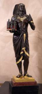 Art Deco Egyptian Priest Pharaoh Bronze Statue Limited Edition #8