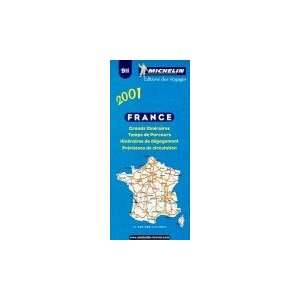 Michelin 2001 France Route Planning (Road Maps
