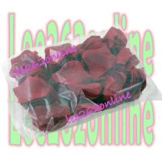 wine red silk rose petals wedding party flower favors x 1000pcs