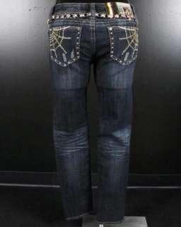 NWT Womens LA IDOL Skinny Jeans GOLD WEBS w/ CRYSTALS! 1710NR