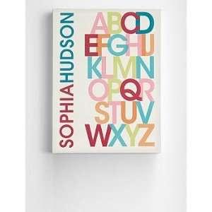 personalized girls alphabet wall art Baby