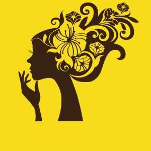 Vinyl Wall Art Decal Sticker Girl Flower Hair Everything