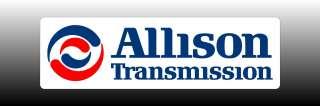 Allison Transmission Logo 4 Wide Bumper Sticker Decal