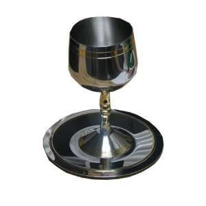 High Quality Stainless Steel Kiddush Wine Cup and Coaster