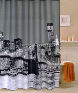 Scene Design Waterproof Bathroom Fabric Shower Curtain ys140