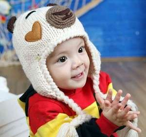 Cute Toddler Baby Beanie Bear Hat Crochet Handmade Photography Prop