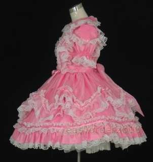 Adult Baby Sissy Dress Pink Satin Costume Custom made 3
