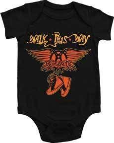 NEW Aerosmith Steven Tyler Infant Baby Romper Shirt Band Onesie 6M 12M