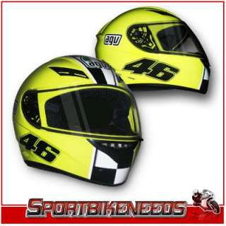 AGV VALENTINO ROSSI Yellow Celebr8 K3 Helmet XXLarge