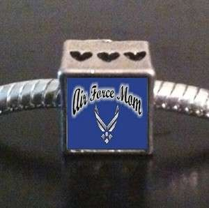Air Force Mom Photo European Bead Cube Charm