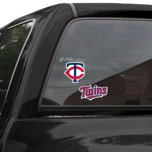 MLB Minnesota Twins 2 Pack 4 x 4 Die Cut Decals