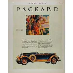 Ad Packard Car Auto Native American Indian Scout   Original Print Ad