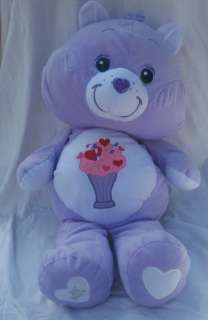 CARE BEAR JUMBO PURPLE SHARE BEAR 26 PLUSH 25 YR ANNIV