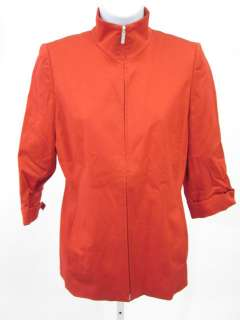 LINDA ALLARD ELLEN TRACY Red Zip Front Jacket Sz P6