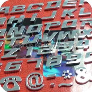 Universal Chrome Letter Alphabets 3D Car Badge Sticker Decal Emblem