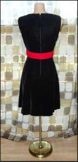 VTG 60s Jackie O Black Velvet FLIRTY Cocktail Dress MADMEN SZ 11 36 B