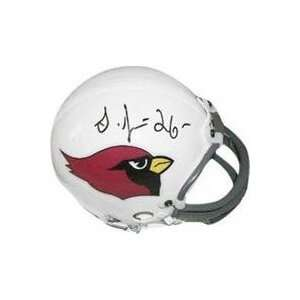 Thomas Jones autographed Football Mini Helmet (Arizona