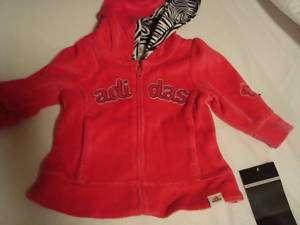 NWT Adidas Baby Girl Sweatsuit Pink 6 mth