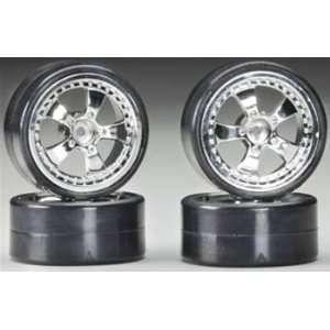C22694SILVER 5 Spoke Wheel & Tire Set Drift (4) Toys & Games