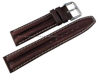 22mm fits Hamilton Khaki Brown Leather Mens Chrono Watch Band Strap