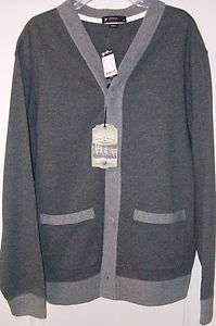 NWT DANIEL CREMIEUX UTILITY WEAR FRENCH TERRY KNIT CARDIGAN SWEATER