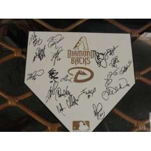 2011 Arizona Diamondbacks Team Signed Home Plate Upton