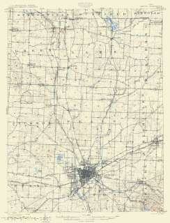 USGS TOPO MAP CANTON QUAD OHIO (OH/STARK CO.) 1903 MOTP