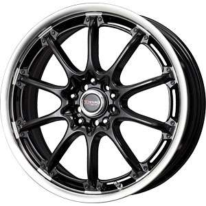 New 18X7 5 100/5 114.3 DR 47 Gloss Black Machined Lip Wheels/Rims