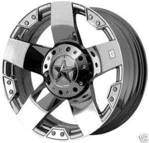 22 XD XD775 ROCKSTAR Wheels TIRES Chrome Offroad RIMS