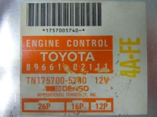 93 94 COROLLA PRIZM ENGINE COMPUTER ECM ECU PCM 8966102111