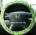 Car Truck Universal Grip Steering Wheel Cover Green Scooby Doo Dog