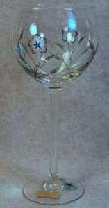 LENOX CRYSTAL FLORAL SPIRIT BALLOON WINE GLASS GOBLET B