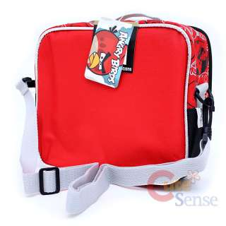 Angry Birds 14 Medium School Backpack Lunch Bag Set  Red Attack