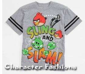ANGRY BIRDS Short Sleeve Shirt Tee Size 8 10 12 14 16 18 S M L XL