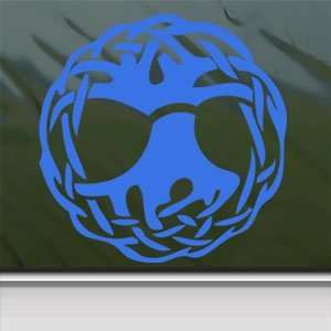 Celtic Wicca Witch Symbol Ball Of Twine Blue Decal Blue