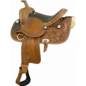 Atec Star Pleasure Saddle   Pecan W/ Brown   17 Sports