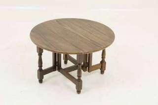 Petite Antique Scottish Oak Gateleg Drop Leaf End Table