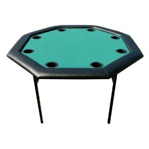 48 inch Octagon Poker Table w/ Folding Legs   Green