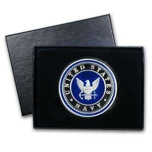 1 oz U.S. Navy Silver Enameled Round (w/Gift Box & Capsule