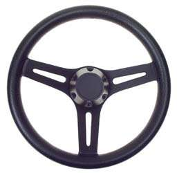 EZGO Black Daytona Style Golf Cart Steering Wheel