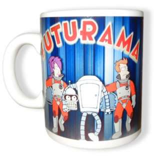 Futurama Exclusive Coffee Cup Bender Fry Leela Mug