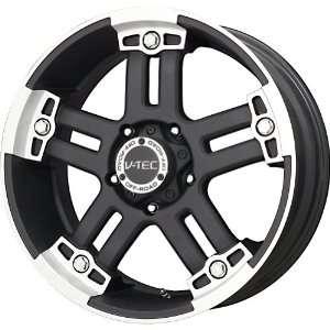 V Tec Matte Black Machined Wheel (17x8.5/8x170mm