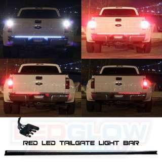 NEW 60 RED & WHITE LED TAILGATE LIGHT BAR DODGE RAM
