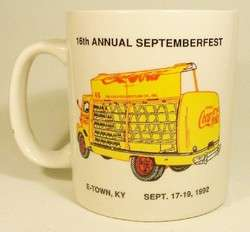 Coca Cola Coffee Tea Cup Mug Septemberfest 1992 Coke