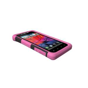 PINK TRIDENT AEGIS SERIES IMPACT SHELL CASE COVER for Motorola Droid
