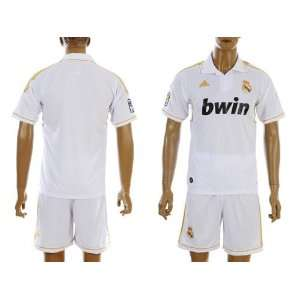 REAL MADRID HOME 11/12 JERSEY SET SHIRT + SHORTS SIZE M