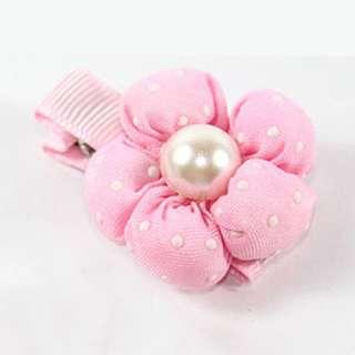 Plum Blossom Flower Girls Kids Baby Hair Bow Clip